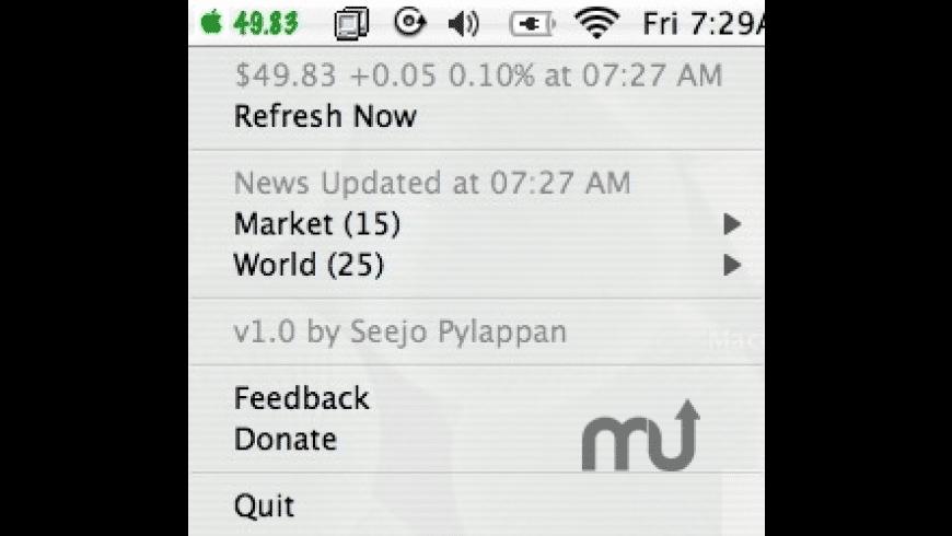 RADAAPLStock for Mac - review, screenshots