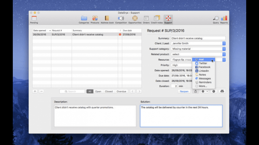 DataGrys for Mac - review, screenshots