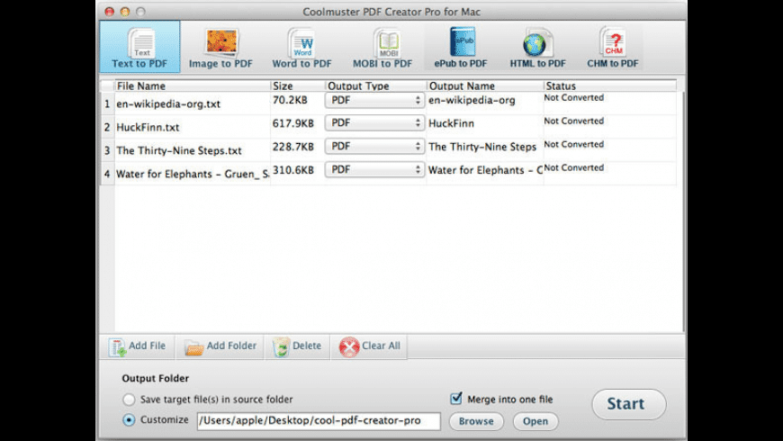 Coolmuster PDF Creator Pro for Mac - review, screenshots