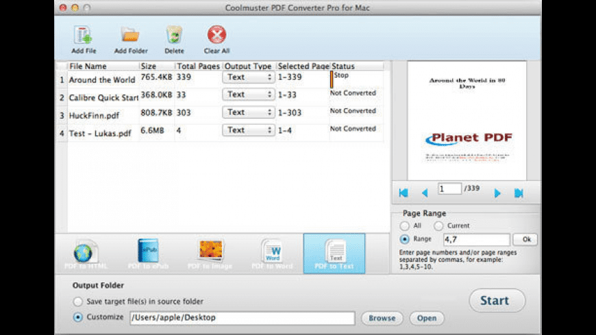 Coolmuster PDF Converter Pro for Mac - review, screenshots