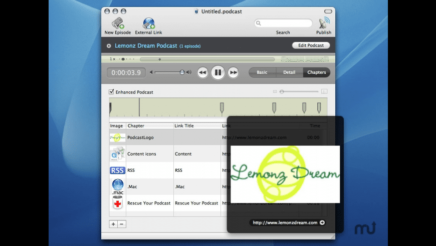 Podcast Maker for Mac - review, screenshots