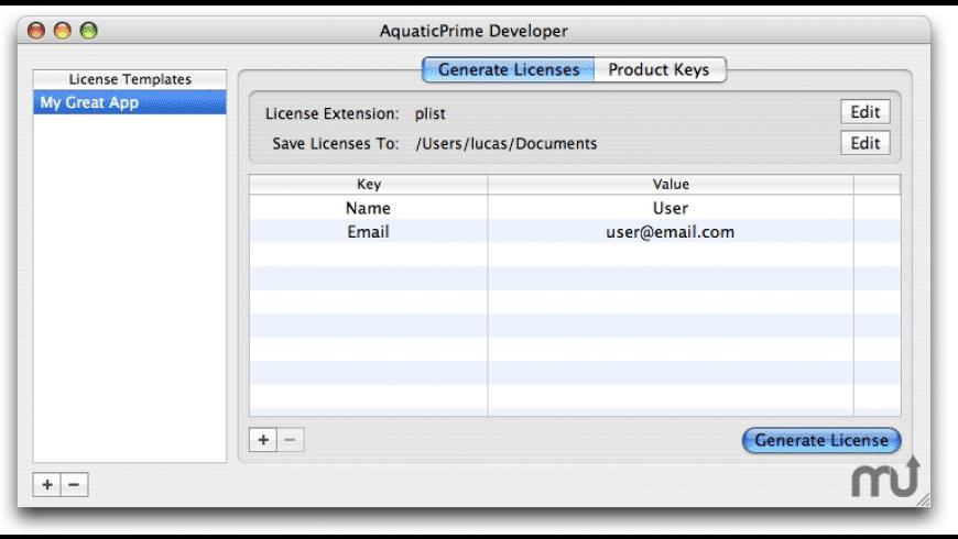 AquaticPrime for Mac - review, screenshots