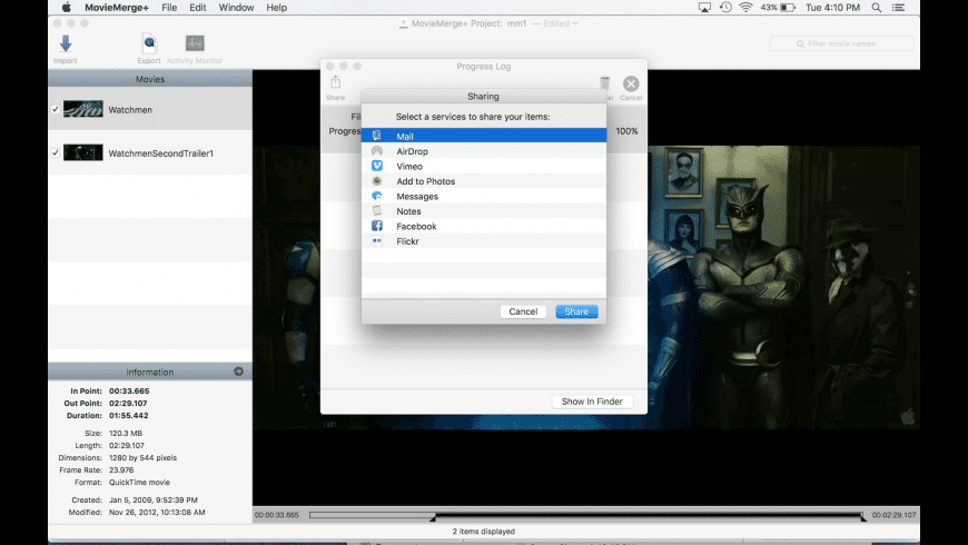 MovieMerge+ for Mac - review, screenshots