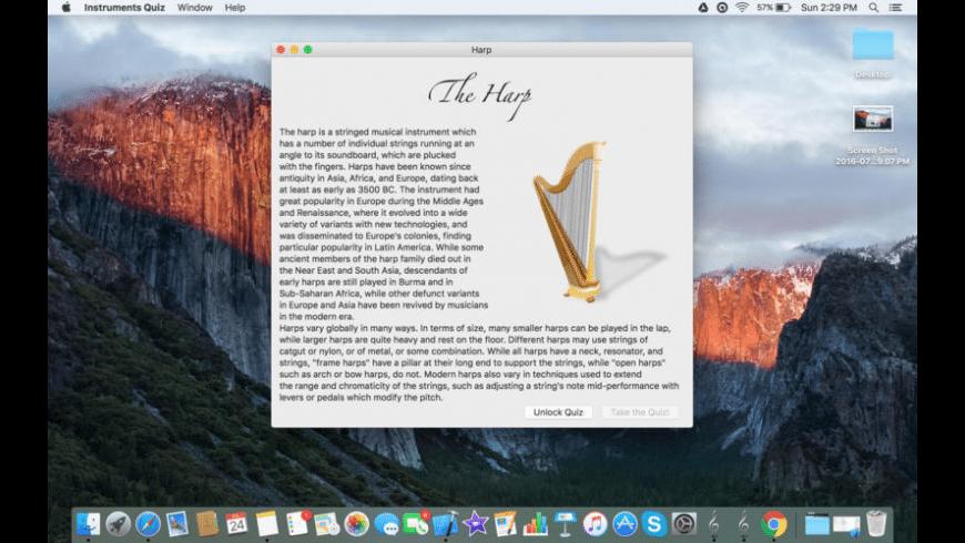 Instruments Quiz for Mac - review, screenshots