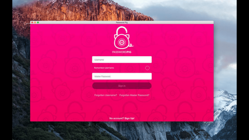 Password Pig for Mac - review, screenshots