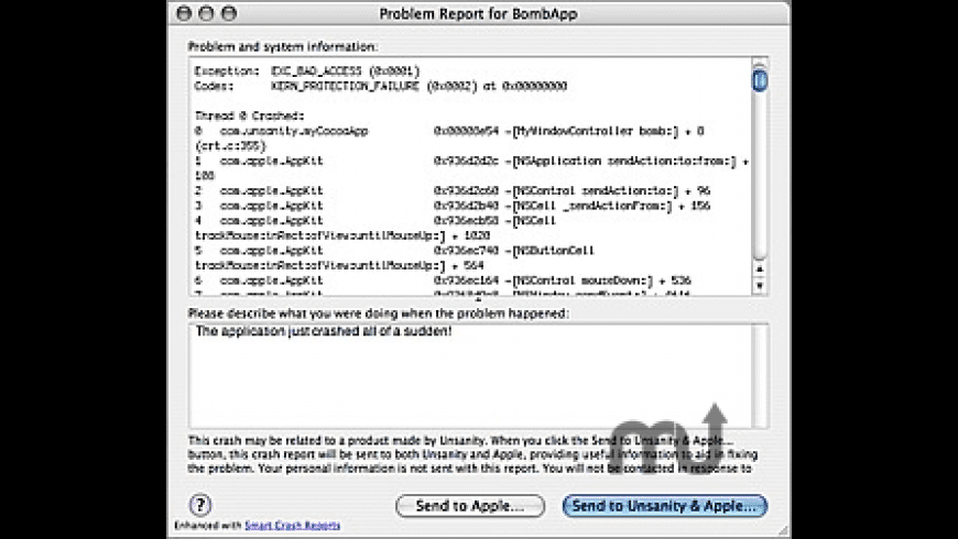 Smart Crash Reports for Mac - review, screenshots