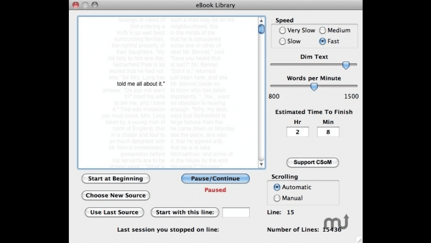eBook Library for Mac - review, screenshots
