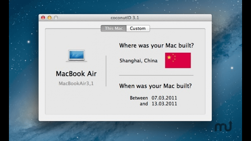 coconutID for Mac - review, screenshots