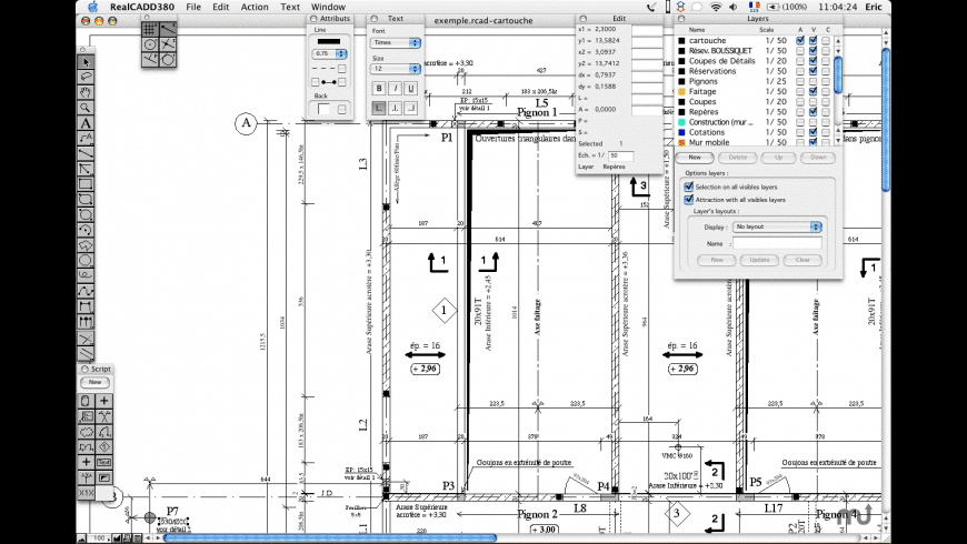RealCADD for Mac - review, screenshots