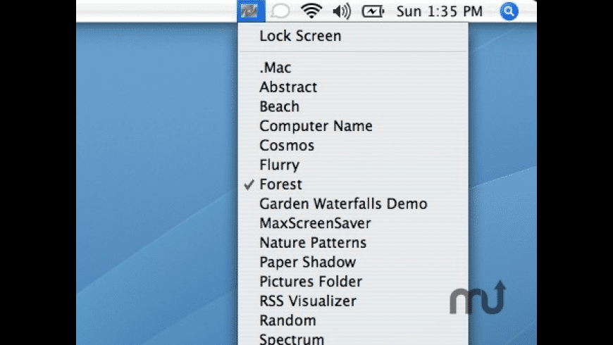 Screen Saver Menu for Mac - review, screenshots