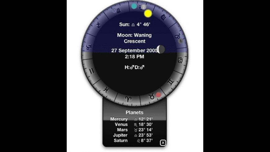 Orrery Widget for Mac - review, screenshots