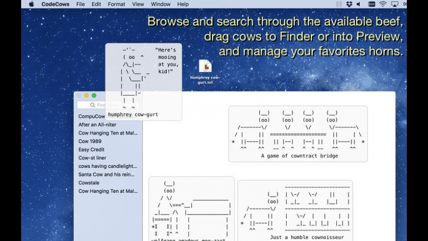 CodeCows for Mac - review, screenshots