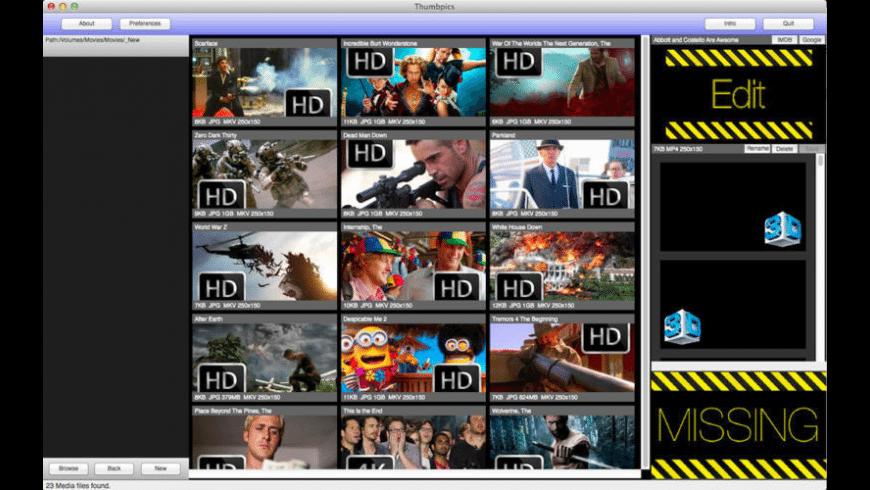 Thumbpics for Mac - review, screenshots