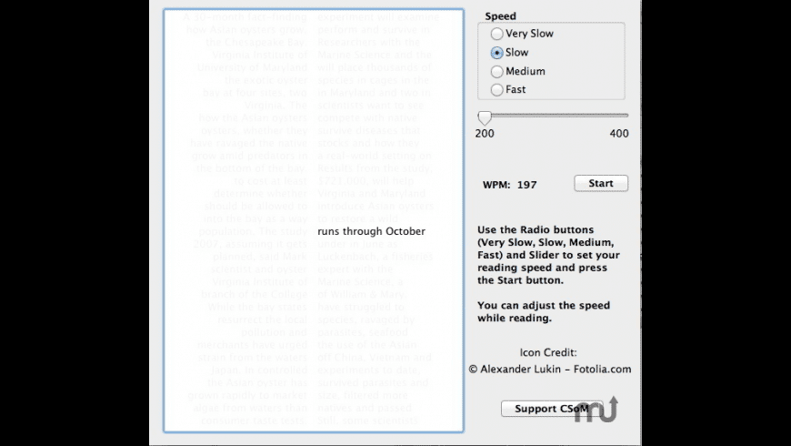 Speed Reading III for Mac - review, screenshots