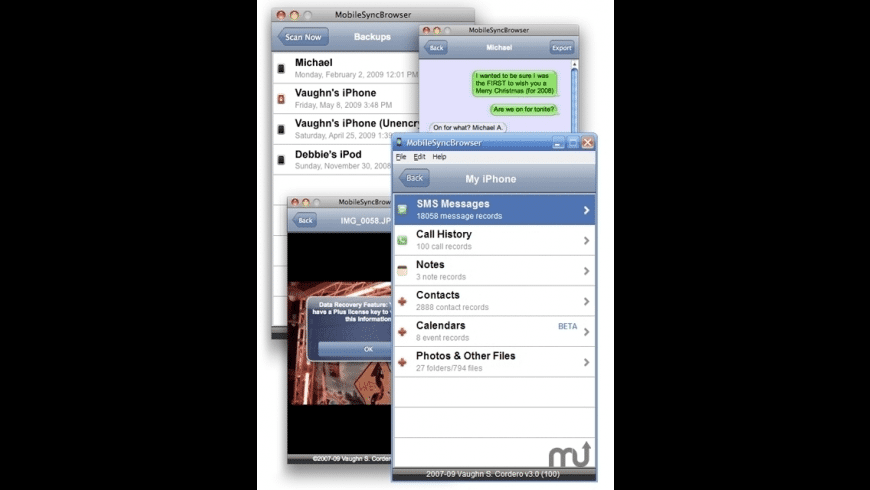 MobileSyncBrowser for Mac - review, screenshots