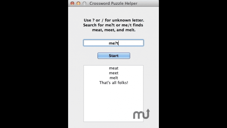Crossword Puzzle Helper for Mac - review, screenshots