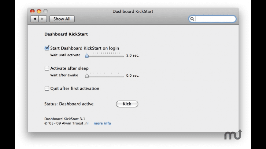 Dashboard KickStart for Mac - review, screenshots