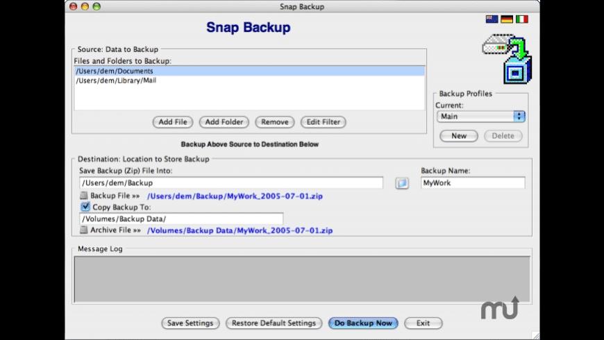 Snap Backup for Mac - review, screenshots