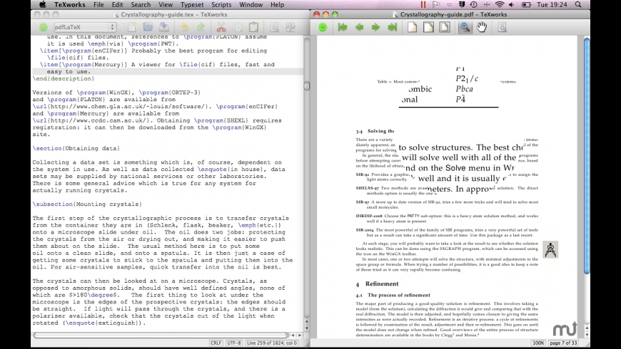 TeXworks for Mac - review, screenshots