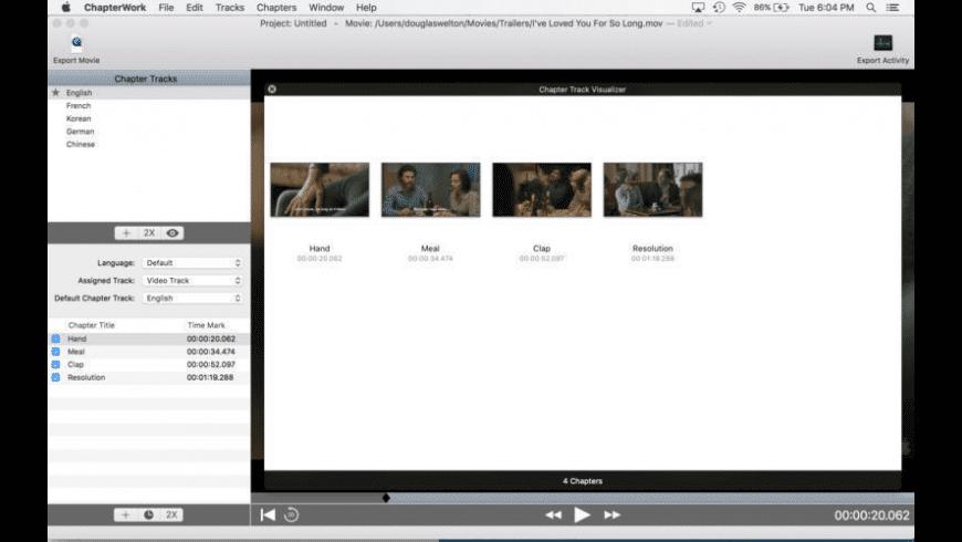 ChapterWork for Mac - review, screenshots
