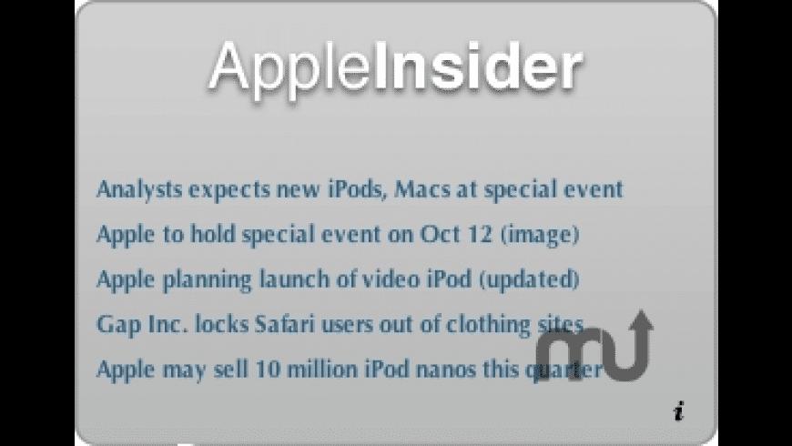 AppleInsider Widget for Mac - review, screenshots