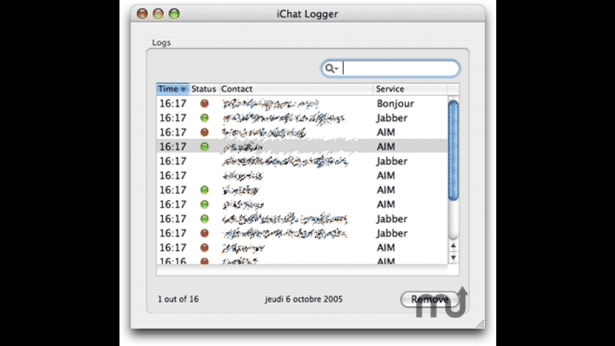 iChat Logger for Mac - review, screenshots