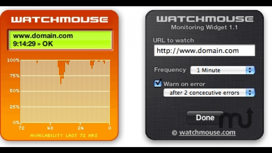 WatchMouse Site Monitor for Mac - review, screenshots