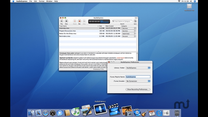 AudioExpress for Mac - review, screenshots