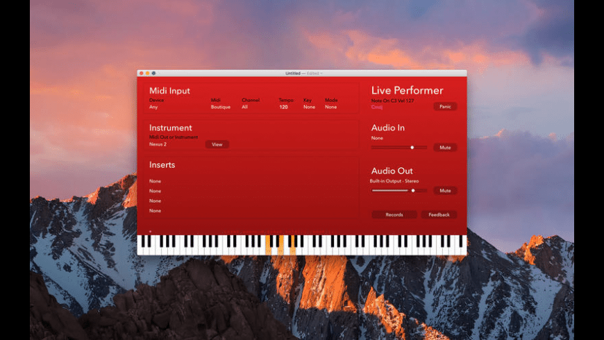 Live Performer for Mac - review, screenshots
