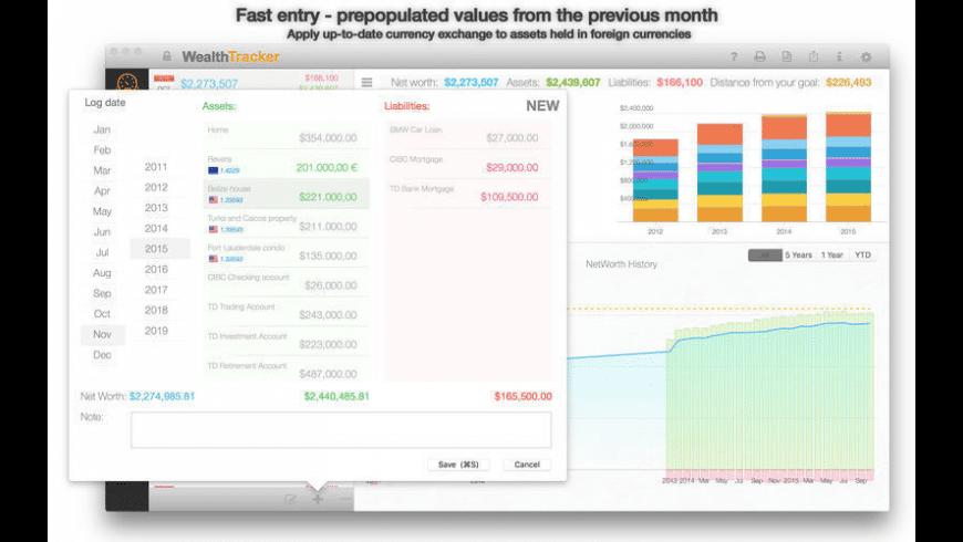 Wealth Tracker for Mac - review, screenshots