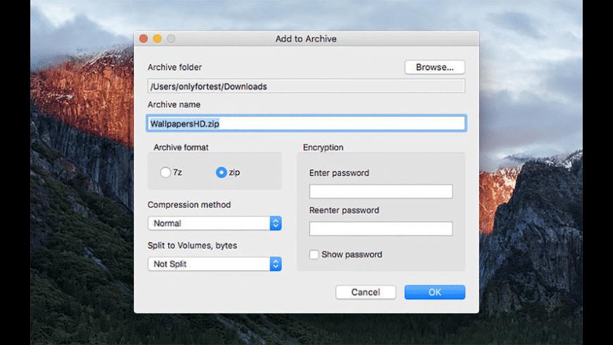 ZipX for Mac - review, screenshots