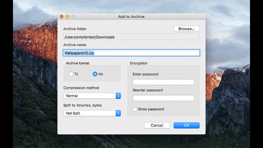 ZipX for Mac - review, screenshots