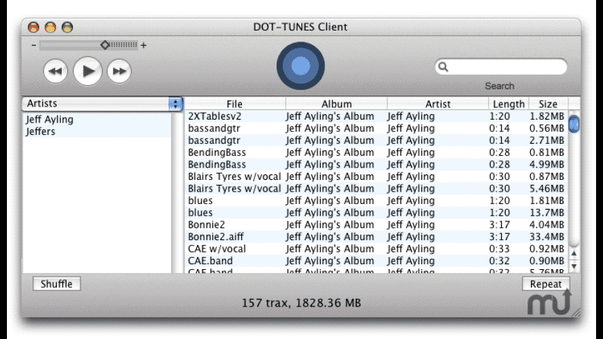 DOT-TUNES Client for Mac - review, screenshots