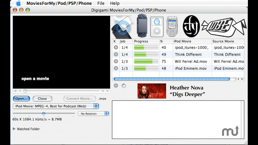 MoviesForMyPod/PSP/Phone for Mac - review, screenshots