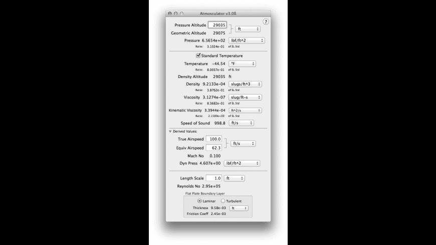 Atmosculator for Mac - review, screenshots