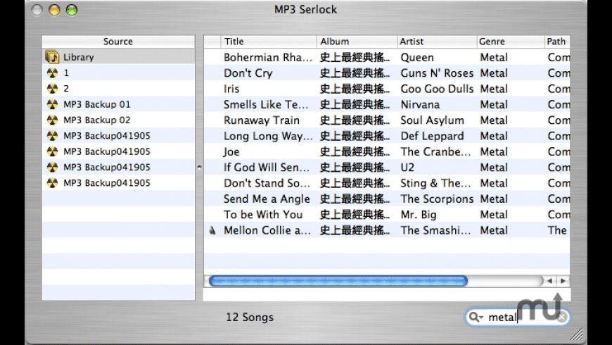 MP3 Sherlock for Mac - review, screenshots