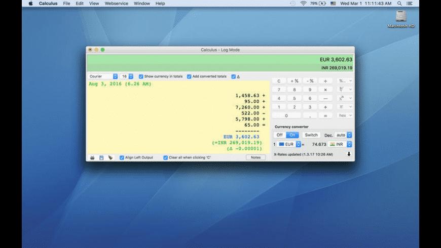 Calculus for Mac - review, screenshots