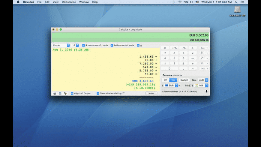 Calculus for Mac - review, screenshots