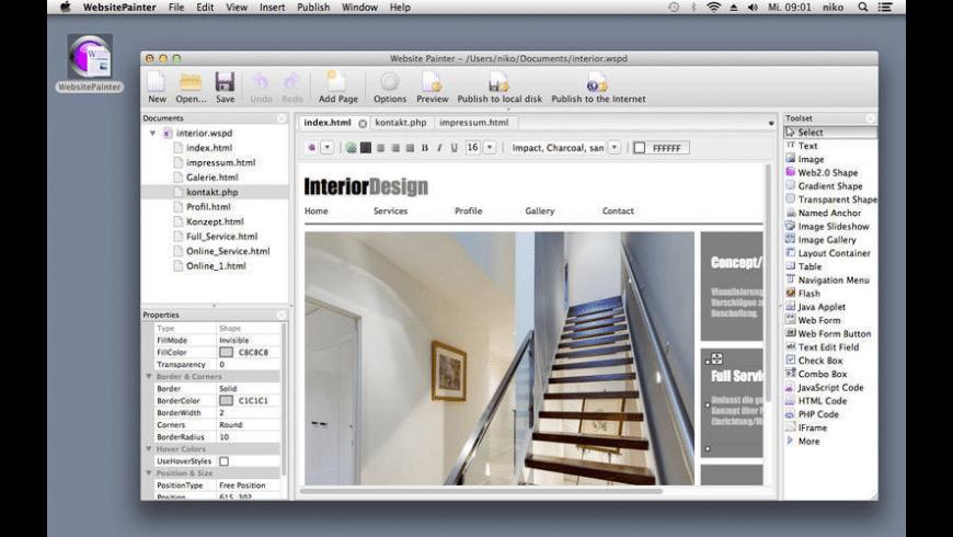 WebsitePainter for Mac - review, screenshots