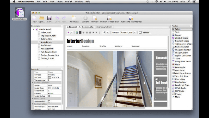 WebsitePainter for Mac - review, screenshots