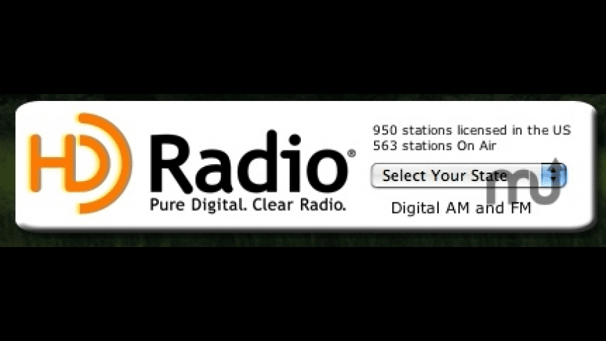 HD Radio Widget for Mac - review, screenshots
