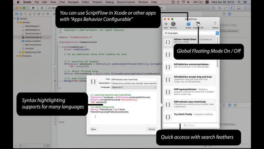 ScriptFlow for Mac - review, screenshots