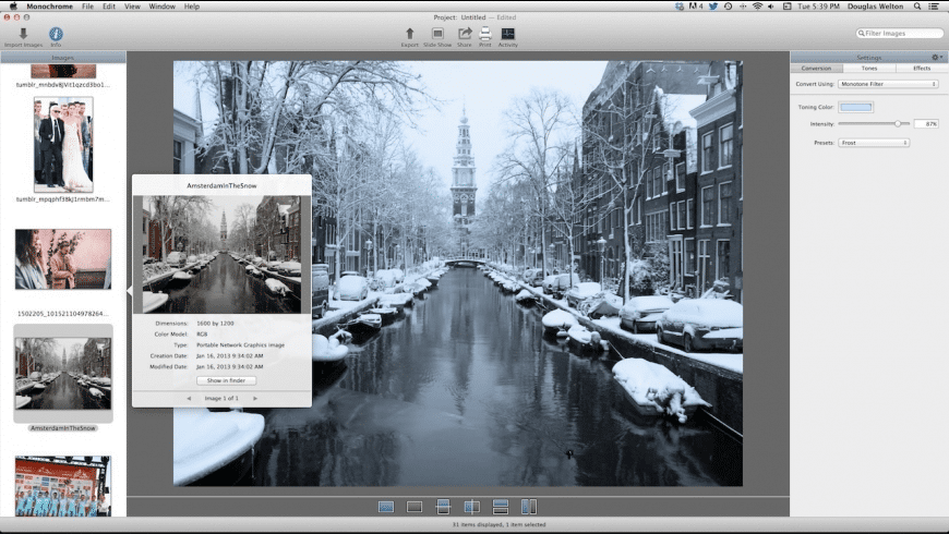 Monochrome for Mac - review, screenshots