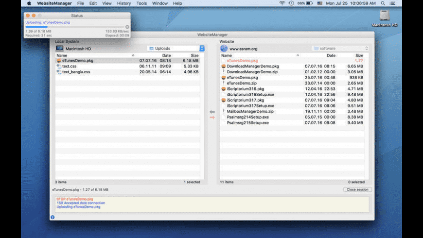 WebsiteManager for Mac - review, screenshots