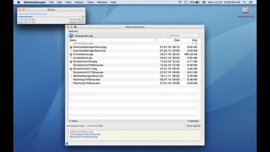 WebsiteManager for Mac - review, screenshots