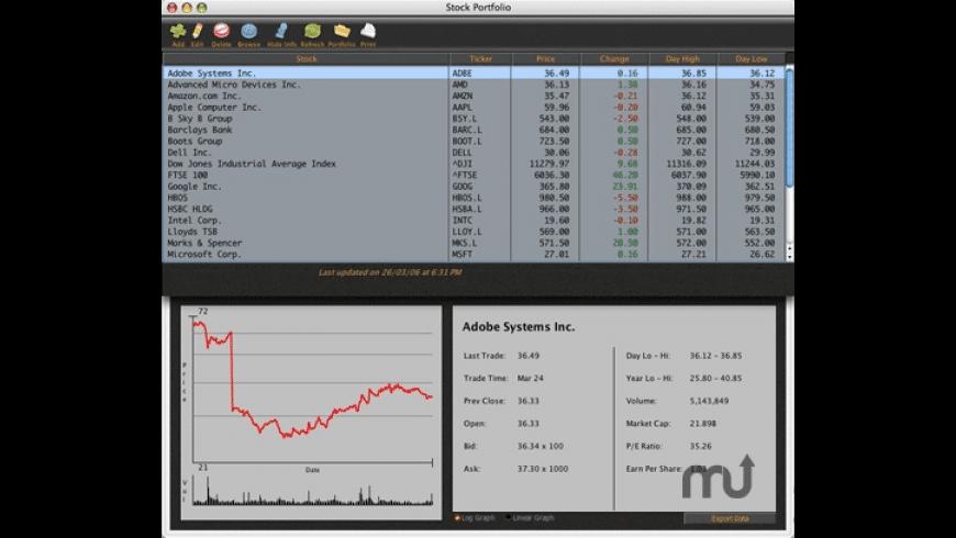 Stock Portfolio for Mac - review, screenshots