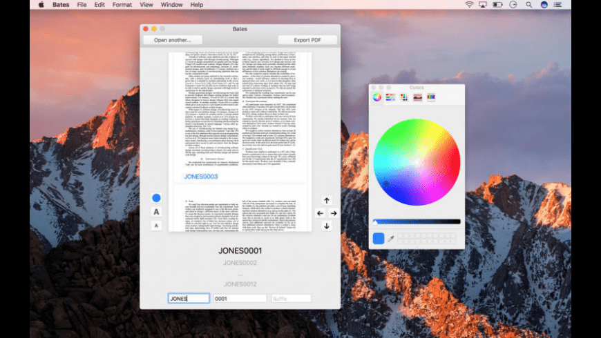 Bates for Mac - review, screenshots