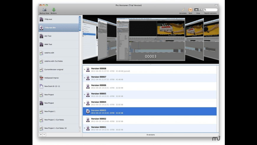 Pro Versioner for Mac - review, screenshots
