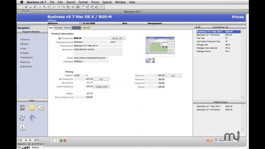 Intex Business vX for Mac - review, screenshots