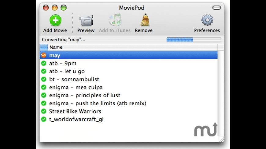 MoviePod for Mac - review, screenshots